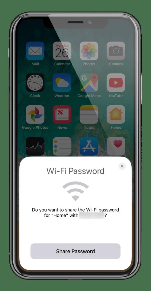 compartilhar senha - Como compartilhar a senha do WiFi em um toque com o iOS 11