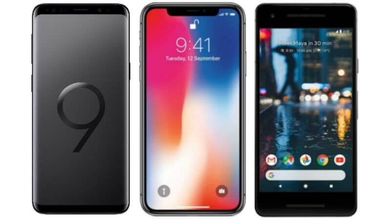 Comparativo: Samsung Galaxy S9+ vs Apple iPhone X 9