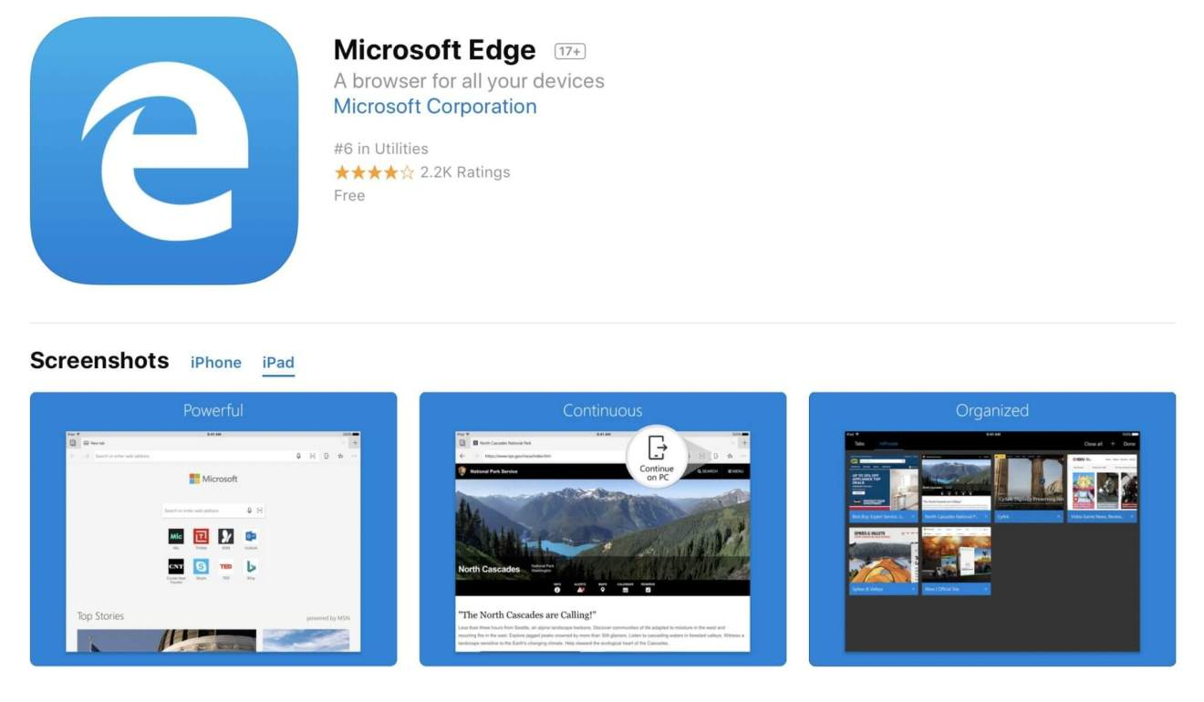 microsoft s edge web browser now supports apple s ipad android tablets 520409 2 - Microsoft Edge é lançado para tablets Android e iOS