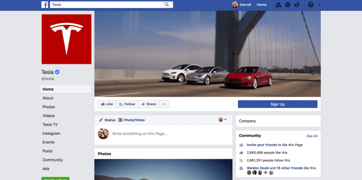 screen shot 2018 03 23 at 12 10 24 pm 720x358 - Elon Musk decide apagar páginas da Tesla e SpaceX no Facebook