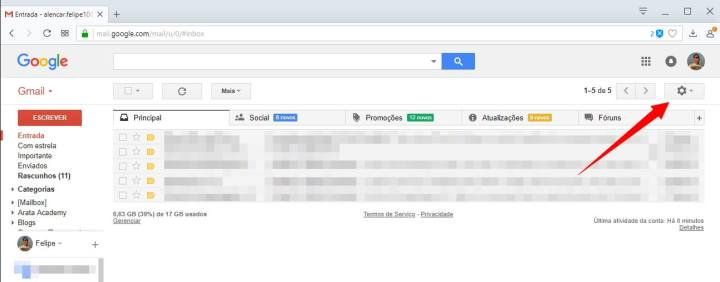Tutorial: Como ativar o novo design do Gmail 6