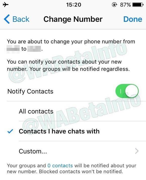 328896 - WhatsApp está trazendo novo recurso para quem vai trocar de número