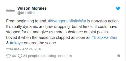 Screenshot 5 - Vingadores: Guerra Infinita surpreende nas primeiras reações ao filme