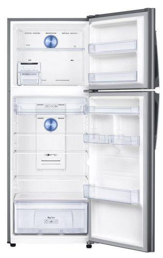 br top mount freezer rt38k5430sl az rt38k5430sl az 004 front open silver e1524516003542 - Conheça os 5 modos de uso dos refrigeradores Twin Cooling da Samsung