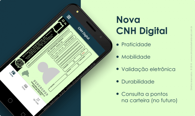 cnh - CNH Digital já está sendo aceita em todo o Brasil