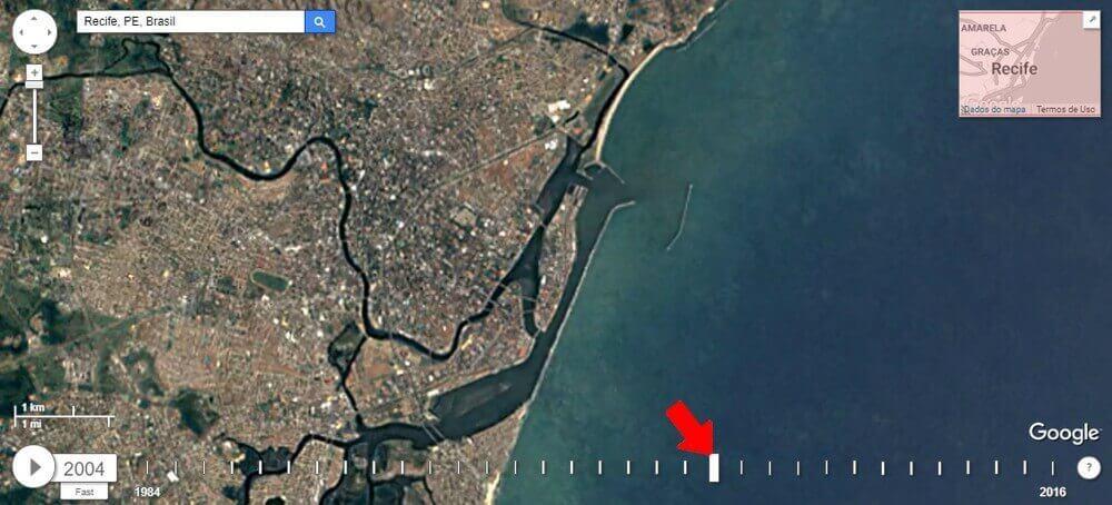 Confira as mudanças em sua cidade com o Google Earth 9