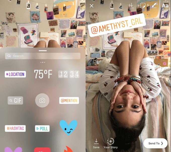 instagram mentions stickers - Instagram lança novo Modo Foco para câmera e outras novidades