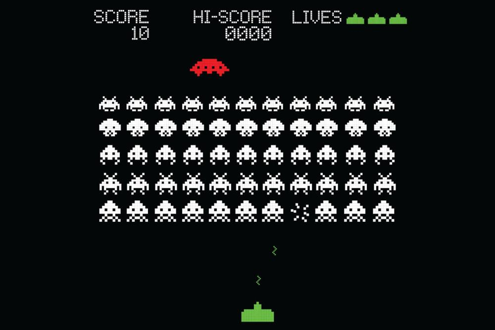 space invaders retro plain - Jogue oito jogos clássicos através de extensões do Google Chrome