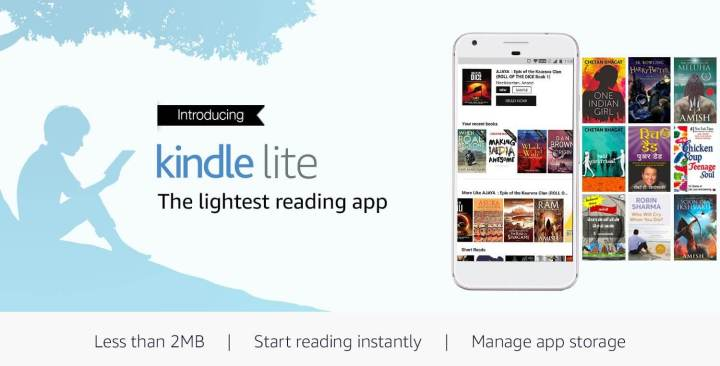 Kindle lite 720x366 - Amazon lança app de leitura Kindle Lite para Android no Brasil