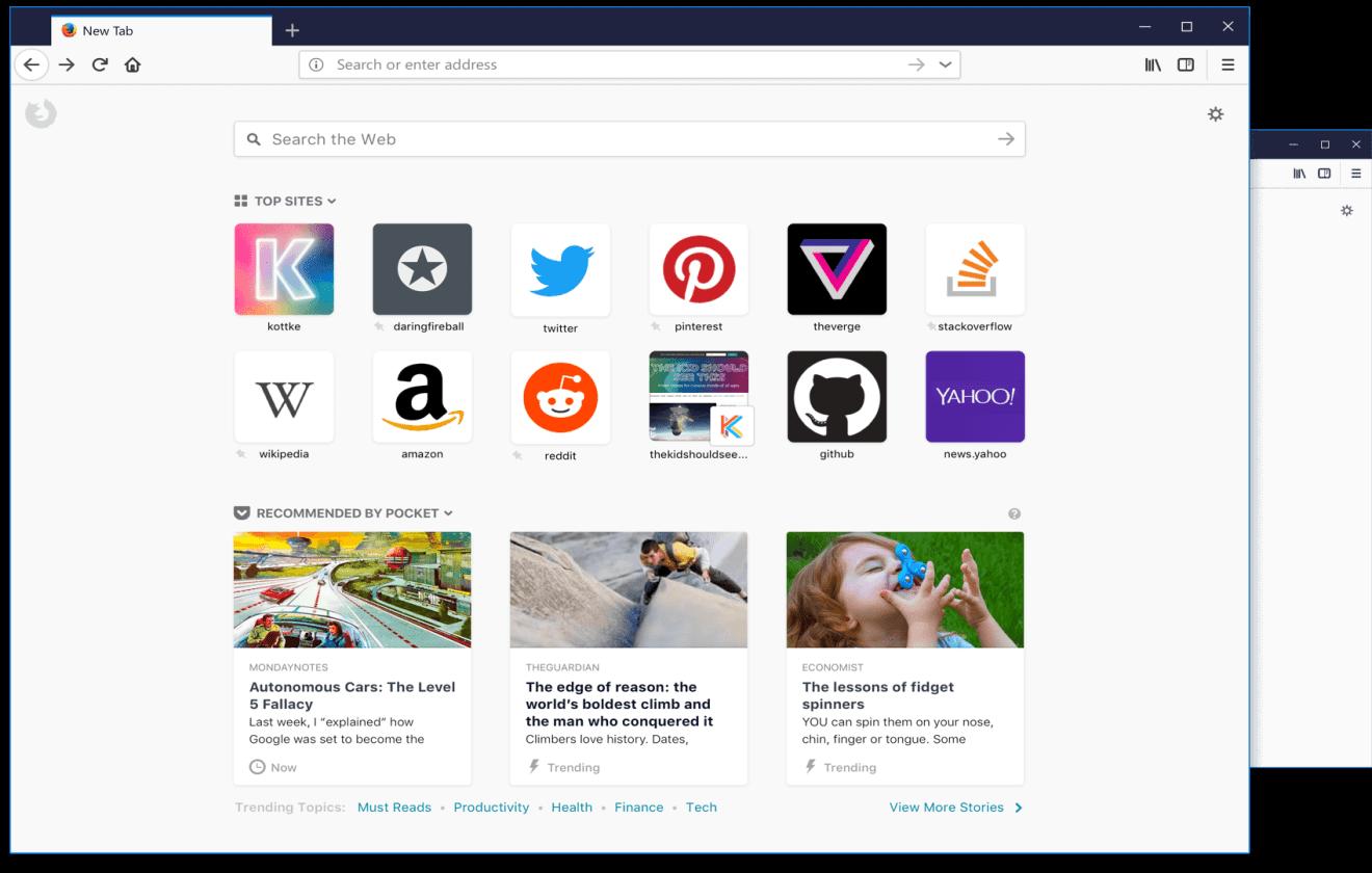new tab high res.217194623b56 - Mozilla Firefox terá anúncios na página inicial em breve