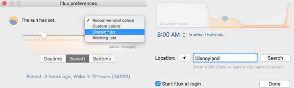 Night shift para Mac de Apple