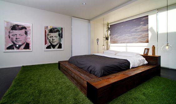 cama cesped artificial
