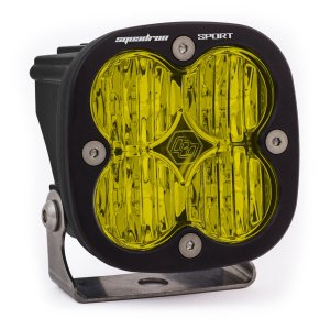 LED Light Pod Wide Cornering Pattern Amber Black Squadron Sport Baja Designs