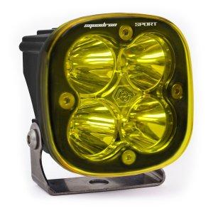 LED Light Pod Work/Scene Pattern Amber Black Squadron Sport Baja Designs