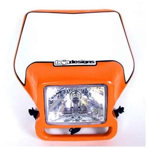 **Discontinued**Motorcycle Headlight KTM Replica Orange Baja Designs