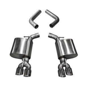 3.5 Inch Axle-Back Dual Side Exit 15-18 Challanger with Polished Pro-Series Tips Corsa Performance