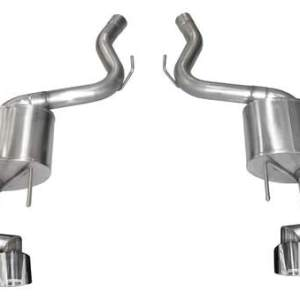 Mustang Axle-Back Exhaust System 18-19 Ford Mustang GT 5.0L V8 Polished 3.0 Inch W/Twin 4.0 Inch Tips Sport Sound Level