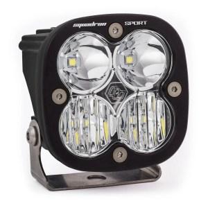 LED Light Pod Driving/Combo Pattern Clear Black Squadron Sport Baja Designs