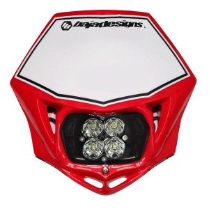 Motorcycle Race Light LED DC Red Squadron Sport Baja Designs