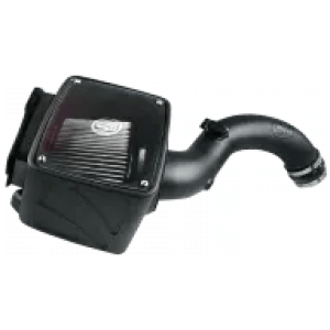 Cold Air Intake For 04-05 Chevrolet Silverado GMC Sierra V8-6.6L LLY Duramax Dry Extendable White S&B