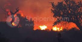 Nje zjarr i madh ne keto momente po shkrumbon Parkun Kombetar te Dajtit mbi Priske