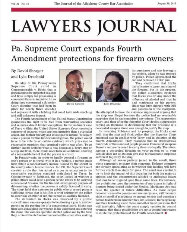 PA Supreme Court Fourth Amendment