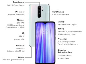 Buy Redmi Note 8 Pro (Halo White, 6GB RAM, 128GB Storage) Best Price in India