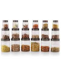 Best Plastic Jars | Cello Checkers Plastic PET Canister, 18Pcs Set
