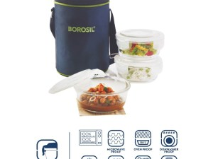 Tiffin Box For Lunch | Borosil Glass Lunch Box Microwave Safe at Best Prices For 2020