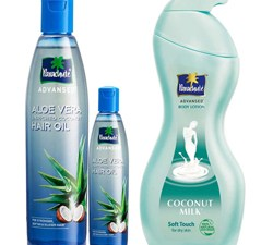 Buy Parachute Oil For Hair Aloe Vera Enriched & Parachute Body Lotion Soft Touch at Best Price for 2020