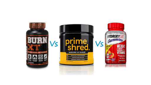 Burn XT vs Hydroxycut vs PrimeShred