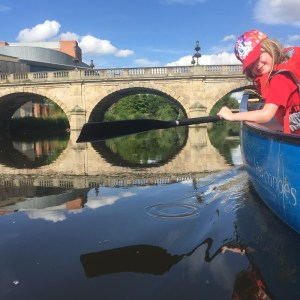 Full Day Canoe Hire from Montford Bridge to Shrewsbury