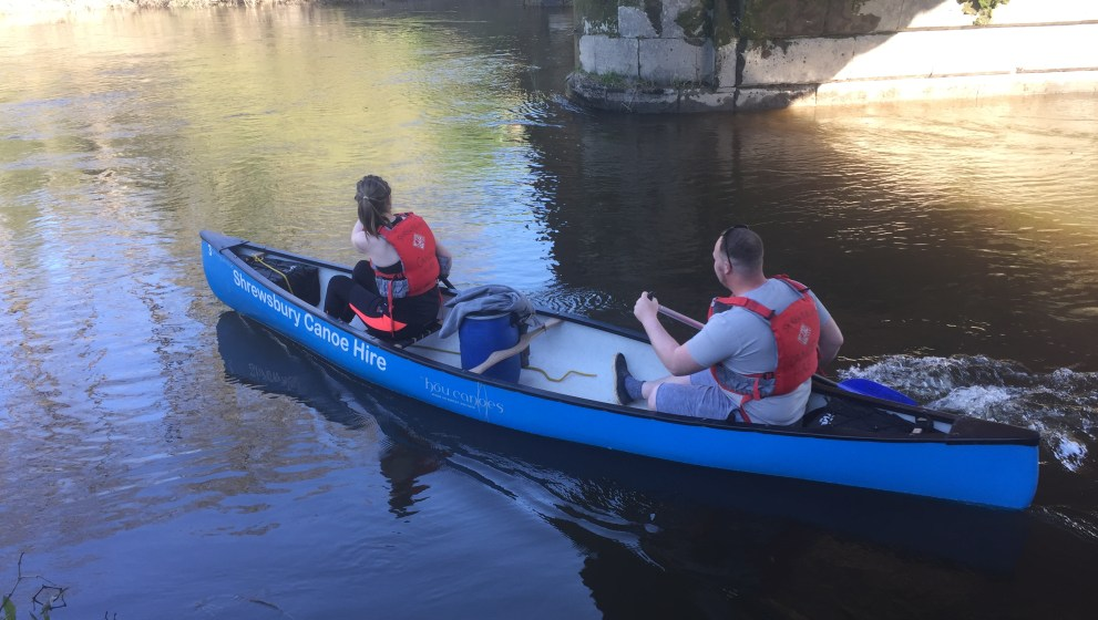 Hire a Canoe from Pool Quay to Shrewsbury multi day canoe hire