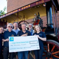 Cheque presentation to Lingen Davies Cancer Fund