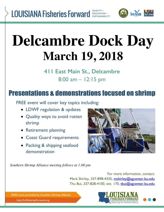 Delcambre Dock Day is March 19th