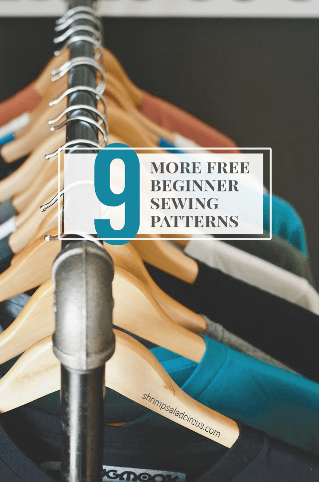 9 More Free Beginner Sewing Patterns