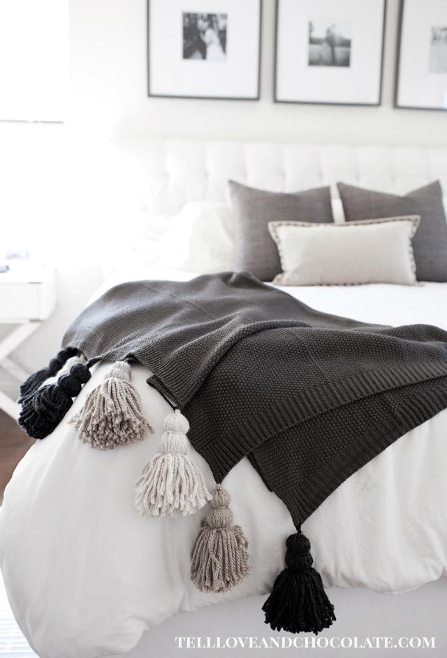 Tassel Knit Blanket Tutorial
