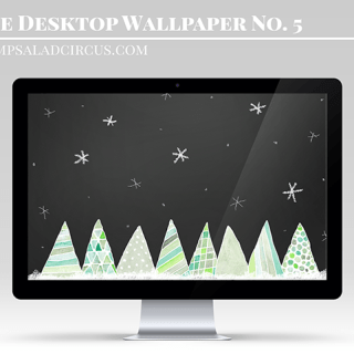 Watercolor Free Christmas Wallpaper – Freebies