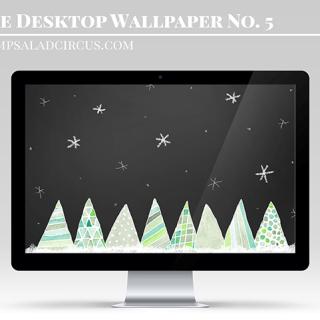Watercolor Free Christmas Wallpaper – Freebies