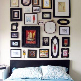 Gallery Wall Faux Headboard Tutorial