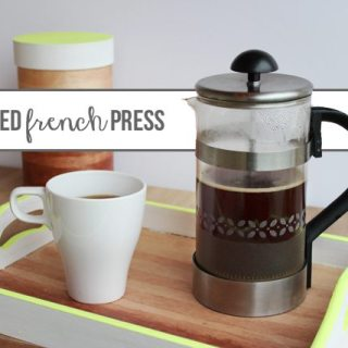 Frosted Glass French Press Coffee Set Tutorial