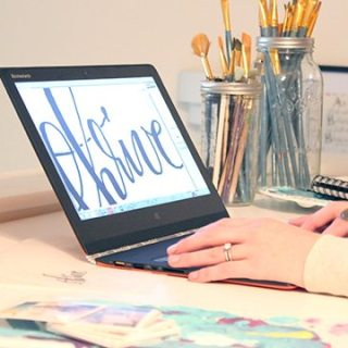 My Lettering Process (Oh, and a Lenovo YOGA 3 Pro Giveaway!)
