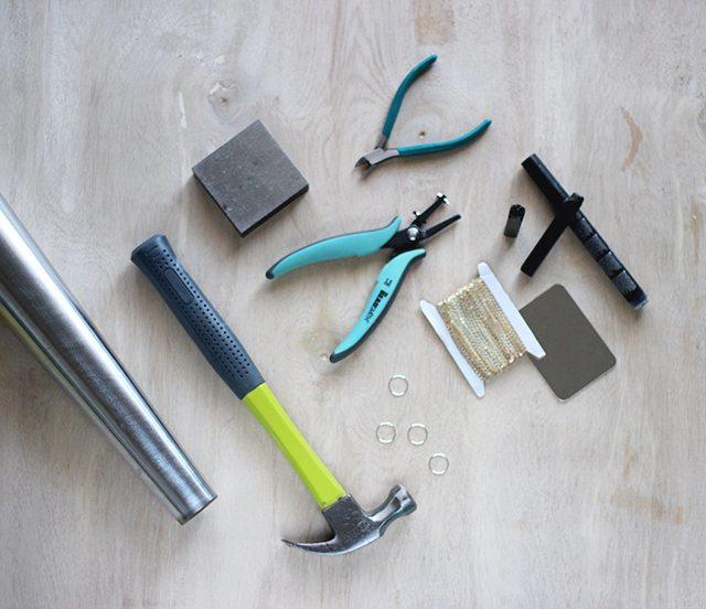 DIY Stamped Metal Bar Tags - Supplies