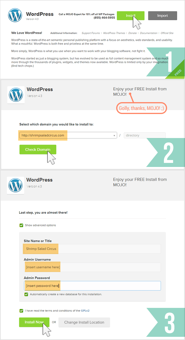 How to Start a DIY Blog - Installing WordPress - Step 2