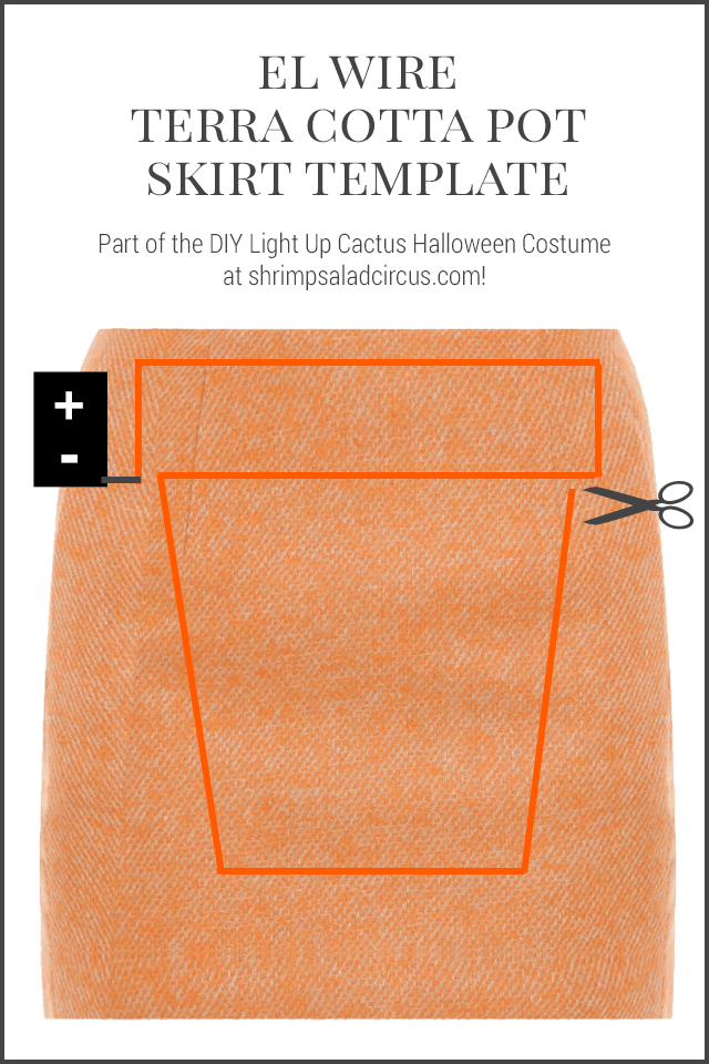 DIY Cactus Halloween Costume - Neon Light Skirt Template