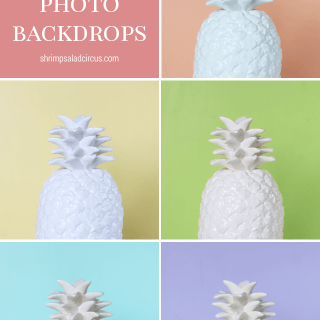 Quick and Easy Colorful Photo Backdrops