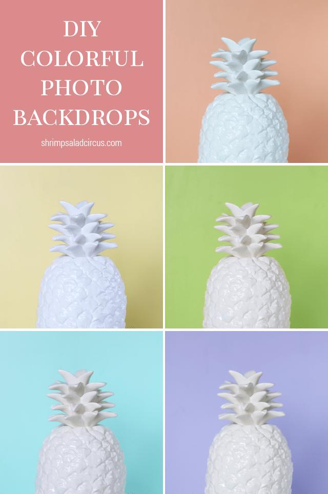 DIY Colorful Photo Backdrops