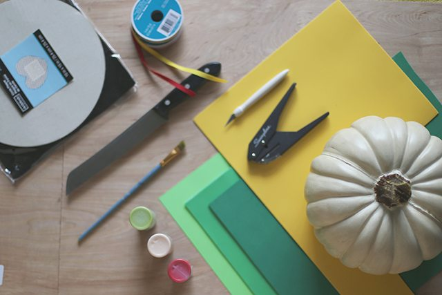 DIY Hamburger Pumpkin Tutorial - Supplies