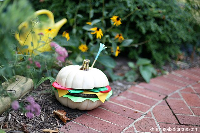 DIY Hamburger Pumpkin Tutorial