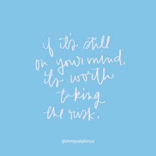 Worth the Risk – Hand Lettered Quote